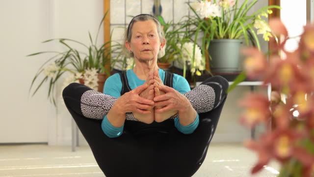 Senior Female doing Yoga