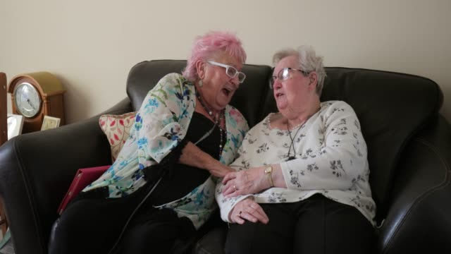 senior friends having a good laugh - over 80 stock videos and b-roll footage
