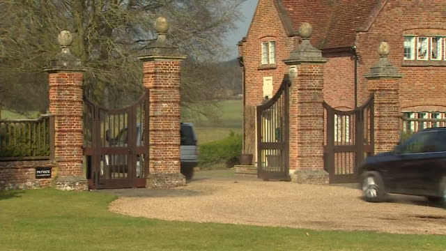 Senior government ministers arriving at the Prime Minister's country residence Chequers for urgent Brexit talks