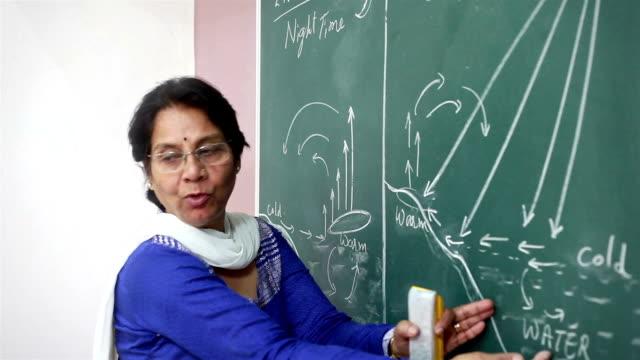Senior Indian Teacher Teaching Geography
