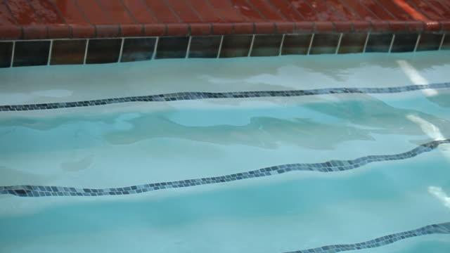 """vídeos y material grabado en eventos de stock de """"ms senior ladies in swimming pool / laguna woods, ca, united states """" - gorro de baño"""