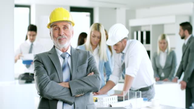 Senior male architect