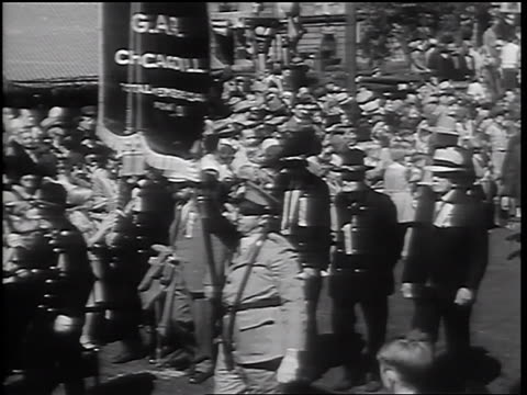 pan senior male civil war veterans walking in parade / springfield il - 1932 stock videos & royalty-free footage