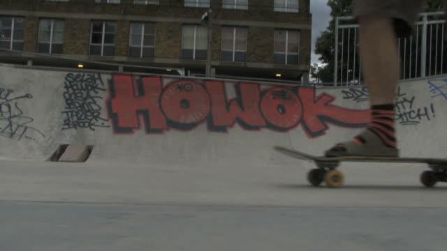 Senior male skateboarding; UK