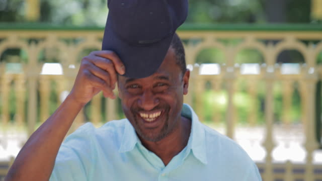 senior man dancing - cap hat stock videos & royalty-free footage