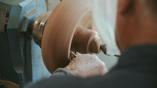 rv cu senior man doing woodwork in his workshop - workshop stock videos & royalty-free footage