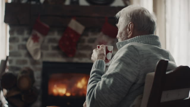 senior man drinking tea - tea hot drink stock videos & royalty-free footage