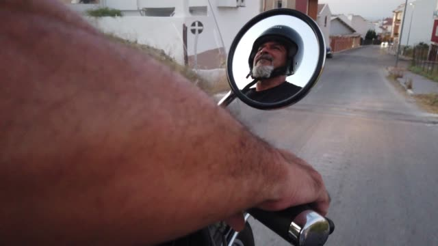 senior man driving sidecar bike - sidecar stock videos & royalty-free footage