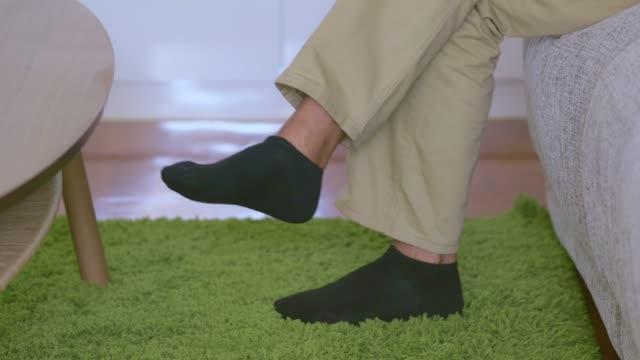 Senior Man Foot : Feet Of A Relaxing