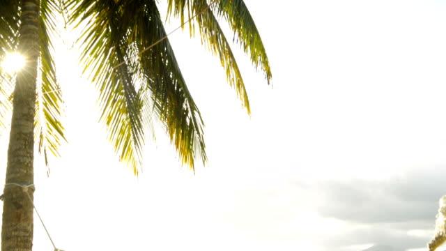 stockvideo's en b-roll-footage met senior man in hangmat op het strand - panama