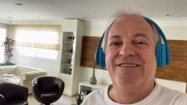 senior man on a video call at home - styles stock videos & royalty-free footage