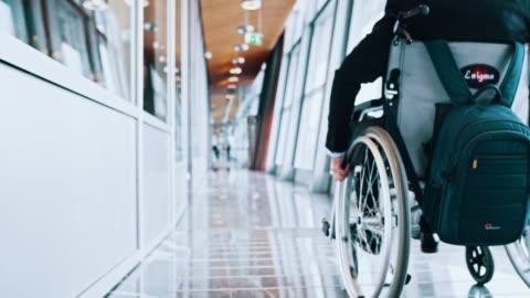 senior man on wheelchair - disability stock videos & royalty-free footage
