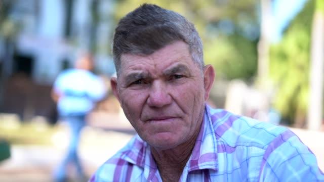 senior man portrait - pardo brazilian stock videos & royalty-free footage