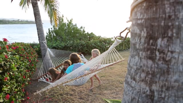 senior man reading book - hammock stock videos & royalty-free footage