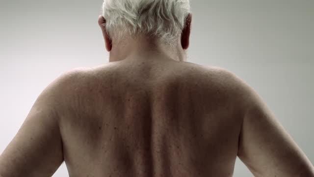 Senior man, rear view