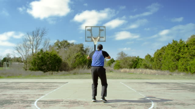 senior man shooting free throws. - full length stock videos & royalty-free footage