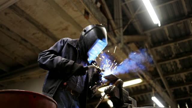 senior man welding farming equipment - over 80 stock videos & royalty-free footage