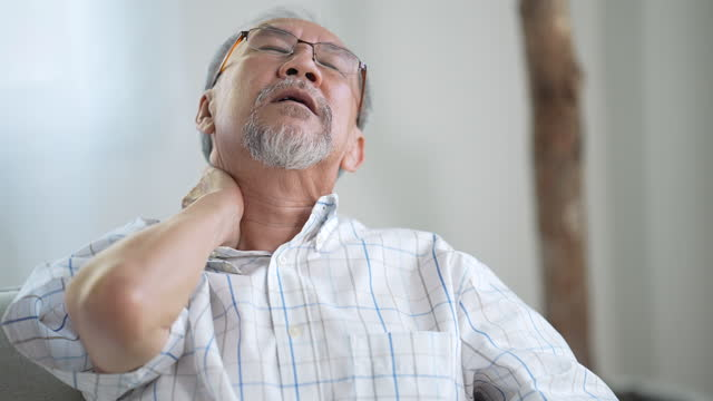 senior men have a sick and headaches - illness stock videos & royalty-free footage