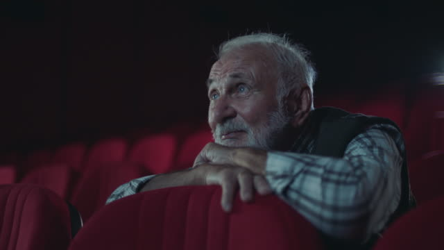 senior men in cinema - movie stock videos & royalty-free footage