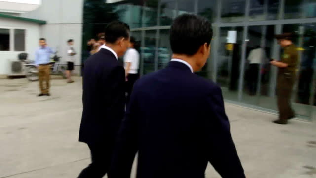 a senior north korean diplomat departed here september 27 for talks with japanese officials in china on the progress of pyongyang's pledged... - ambassador stock videos & royalty-free footage