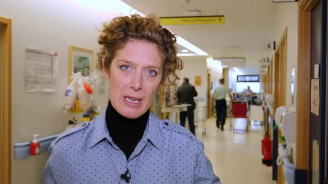 senior northern irish doctor talks of lives being put at risk by long accident and emergency waits; northern ireland: antrim: antrim area hospital:... - operation stock videos & royalty-free footage