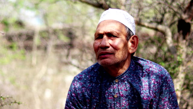 senior old men smiling portrait - pakistan stock videos and b-roll footage