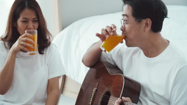 senior singing together - juice drink stock videos & royalty-free footage