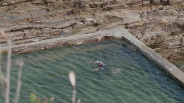 senior swimming - leisure activity stock videos & royalty-free footage