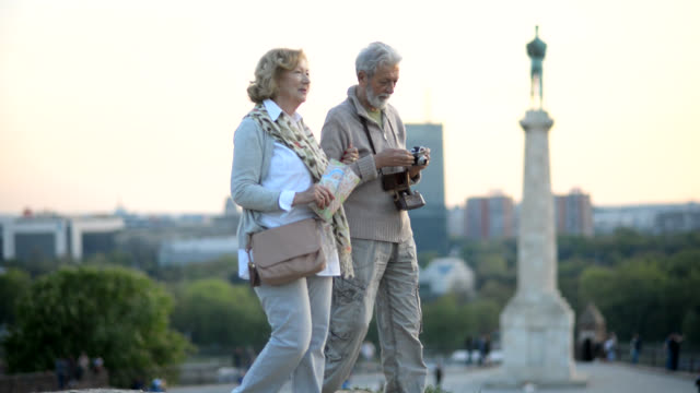 senior tourist - tourist stock videos & royalty-free footage