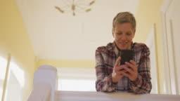Senior woman at home alone