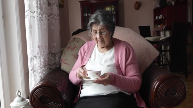 senior woman at home - the ageing process stock videos & royalty-free footage