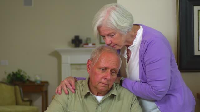MS Senior woman comforting husband, Austin, Texas, USA