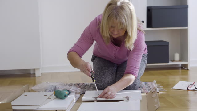 senior woman diy - only mature women stock videos and b-roll footage