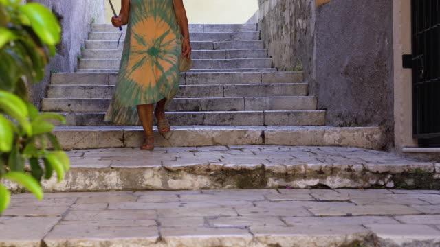 senior woman exploring the corfu town - 60 64 years stock videos & royalty-free footage