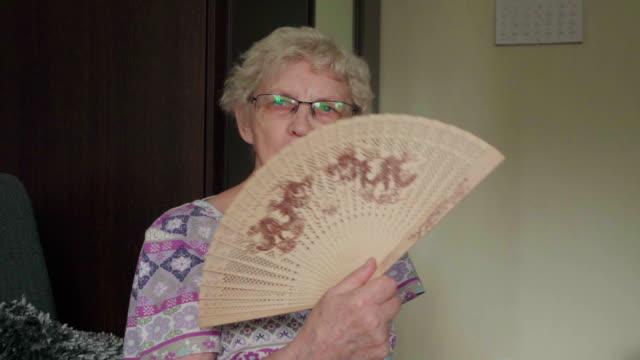 Senior woman fan