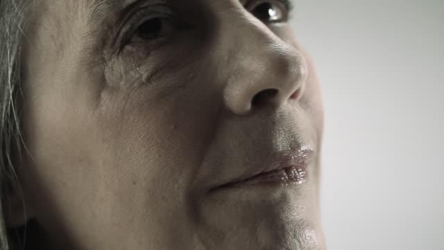 senior woman, headshot - beautiful woman stock videos & royalty-free footage