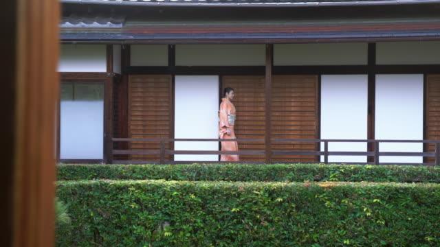 senior woman in a kimono - shrine stock videos & royalty-free footage
