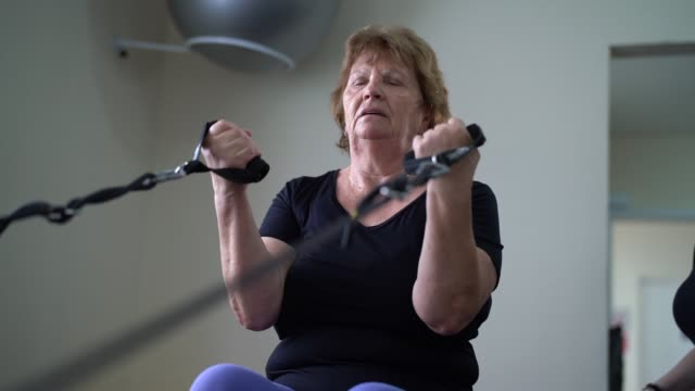 senior woman in physical rehabilitation - recovery stock videos & royalty-free footage