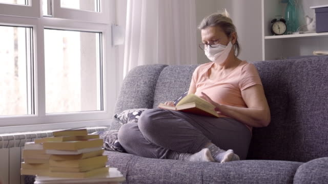 senior woman in quarantine  from  corona virus  at home - mental health stock videos & royalty-free footage