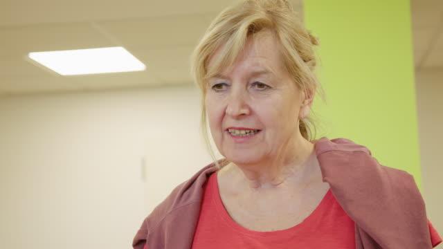 senior woman looking away at health club - rehabilitation center stock videos & royalty-free footage