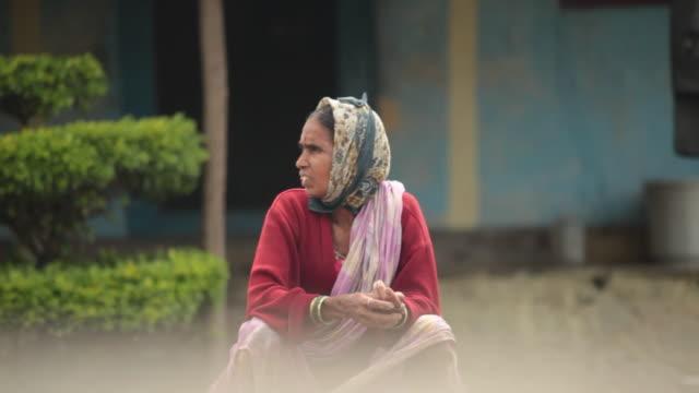 Senior woman, Malshej Ghat, Maharashtra, India