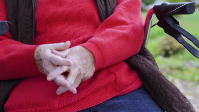 senior woman outdoors - orthopedic equipment stock videos & royalty-free footage