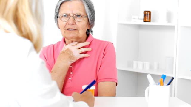Senior woman patient