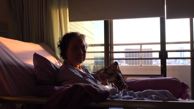 senior woman patient waiting for someone - solitude stock videos & royalty-free footage