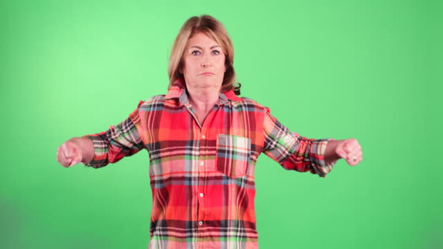 senior woman showing her strength - flexing muscles stock videos & royalty-free footage