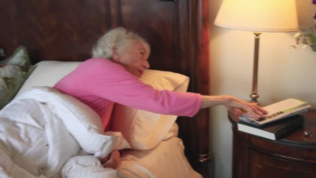 MS Senior woman sleeping / Portland, Oregon, USA