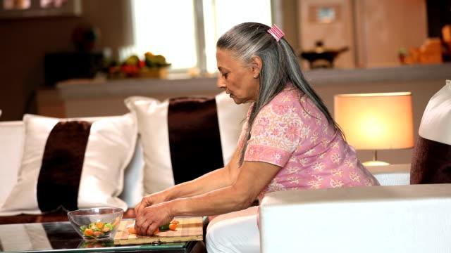 Senior woman suffering from backache, Delhi, India
