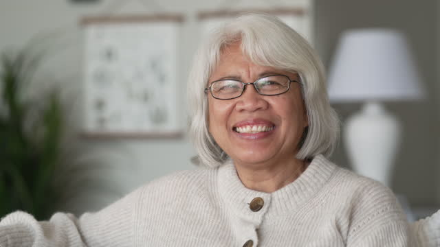senior woman - filipino ethnicity stock videos & royalty-free footage
