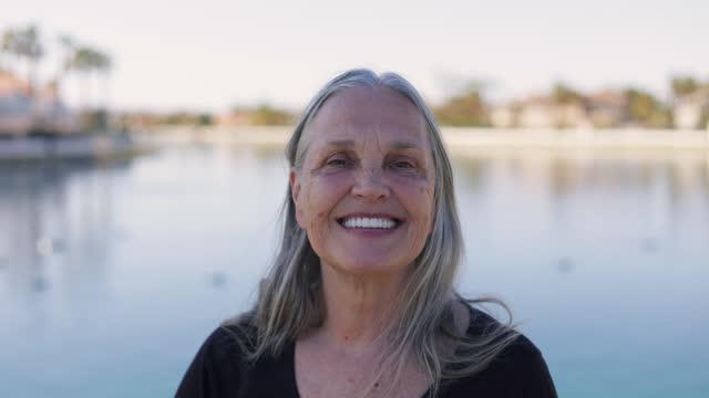 senior woman - video portrait stock videos & royalty-free footage