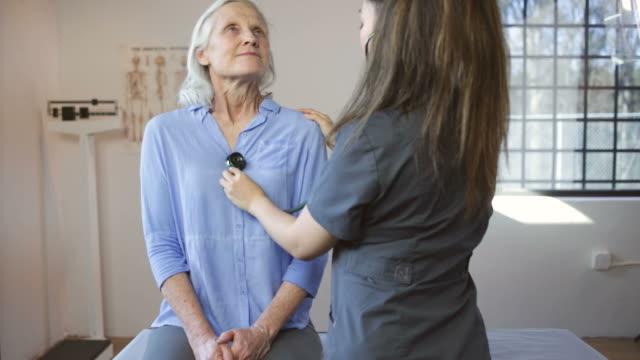Senior Woman's Doctor's Office Visit